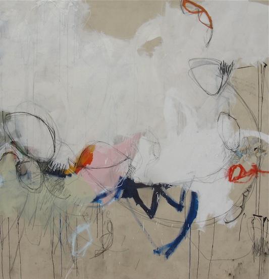 """Found (i Am Love), 88w x 90h, mixed media on canvas"