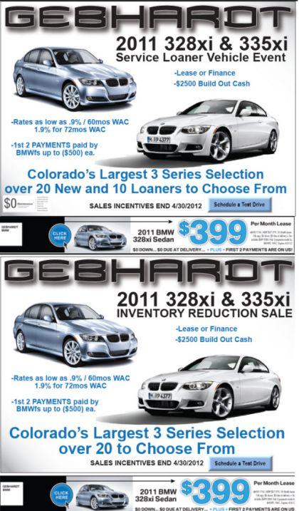 Gebhardt BMW End of Month Specials