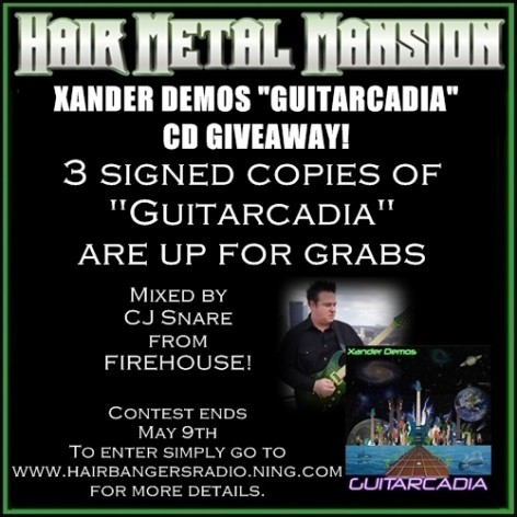 Win A Signed Xander Demos CD on Hair Metal Mansion