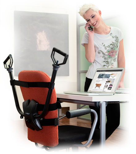 OfficeGYM installed on a chair