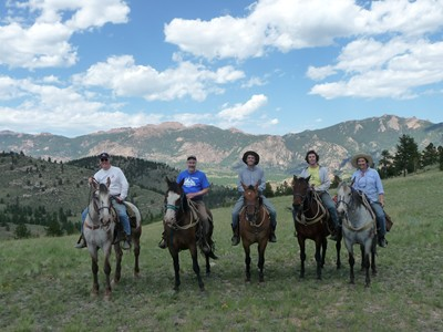 Horseback riding high in the Tarryall Mountains!