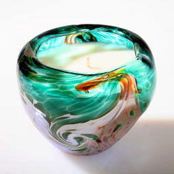 Hand Blown Artisan Vessel Scented Candle