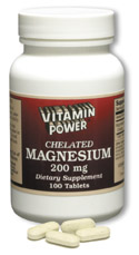 Magnesium (Chelated) by Vitamin Power