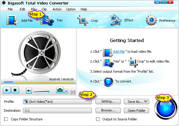 Easy way to convert MP4 to DivX
