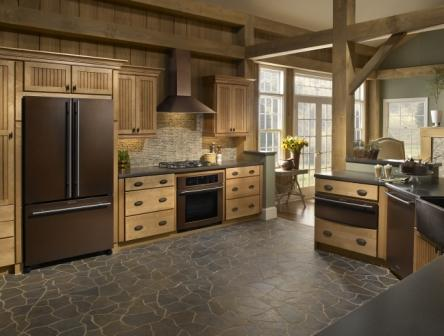 Kitchen Appliances on Bronze Appliances Add Warmth To A Colonial Kitchen Design   Prlog