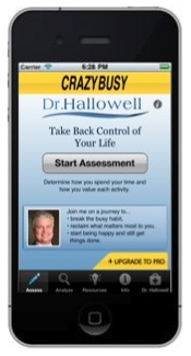 CrazyBusy with Dr. Hallowell iPhone app