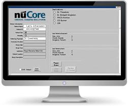 nuCore Input Screen