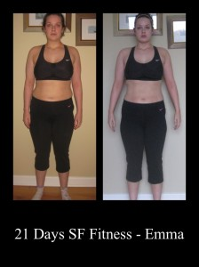 Emma lost 12lbs and 21inches in 21 days