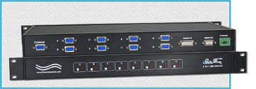 Model 7301 8-to-1 DB9 Network Switch with Contact Closure & RS232 Serial Remotes