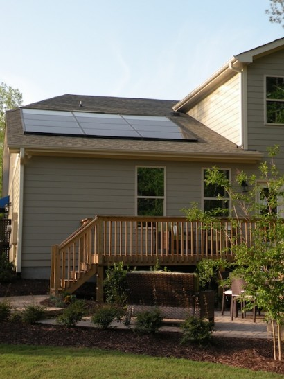 SEM installed this Echo solar array on a Meritage Home in Raleigh.