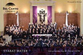 Bel Canto Chorus and Orchestra present Dvořák's Stabat Mater