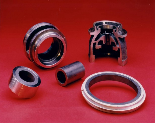 Group of GRAPHALLOY pump parts