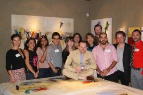 Artist John Ross Palmer with the Escapist Artists