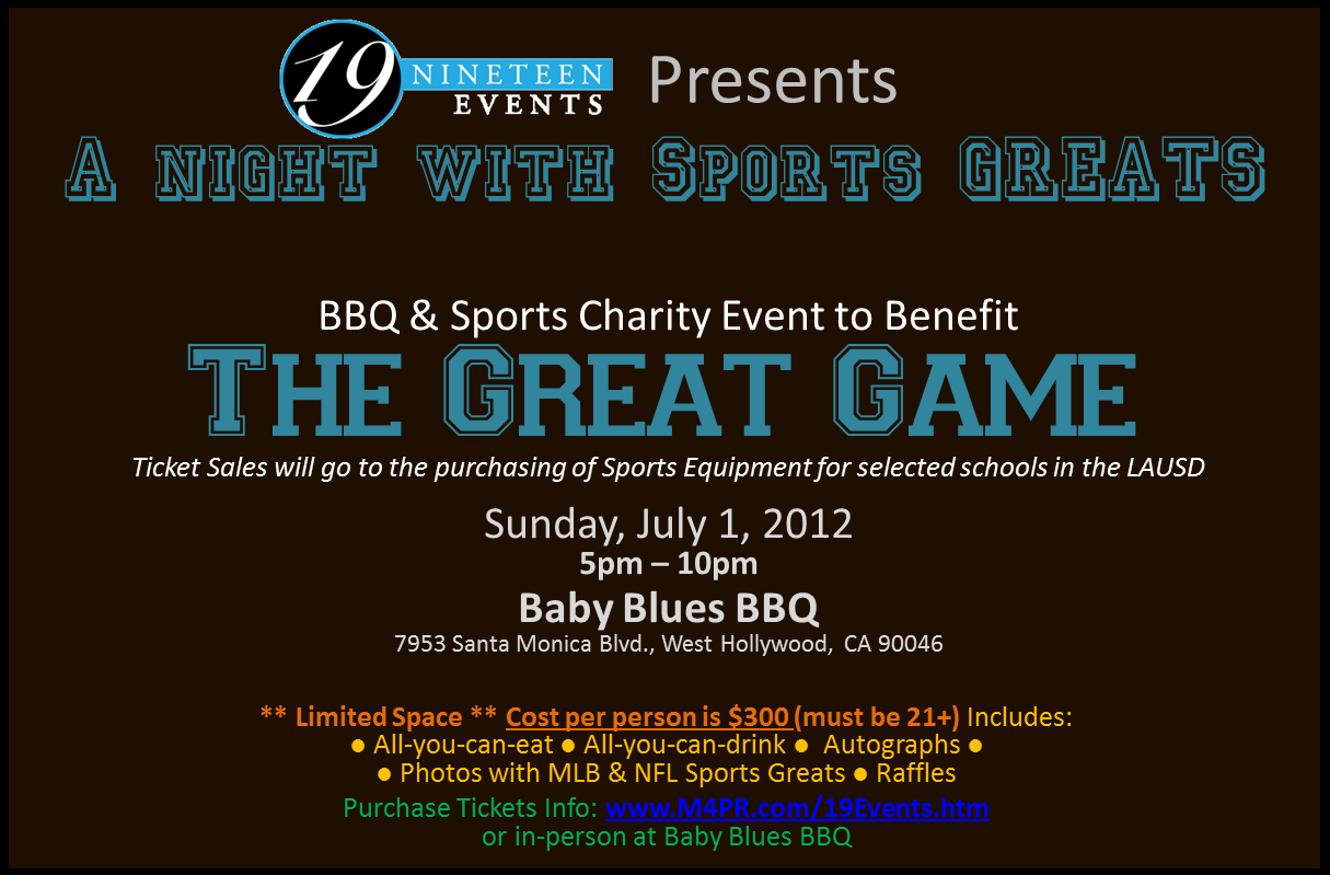 "July 1, 2012: ""A Night With Sports Greats"" by @19Events"