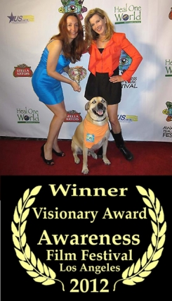 Smiley & Megan Blake receive Awareness Film Festival Visionary Award