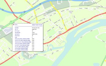 MapMechanics GB Speeds traffic data sourced from INRIX (formerly ITIS) data