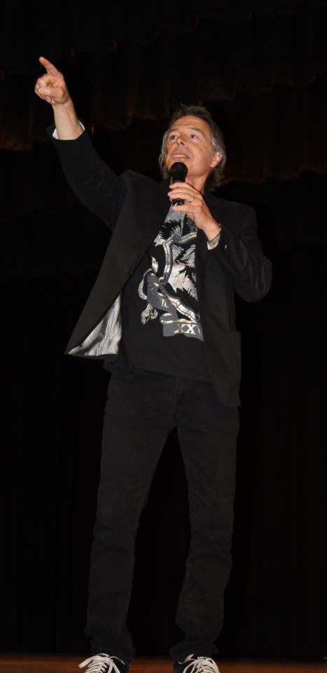James Houston Turner, speaking to students on his 2011 USA Book Tour