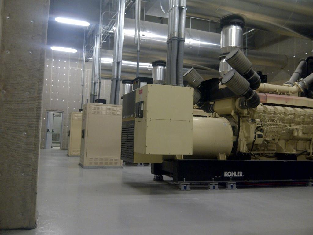 Quietfiber used to quiet industrial generator noise at for Room layout generator