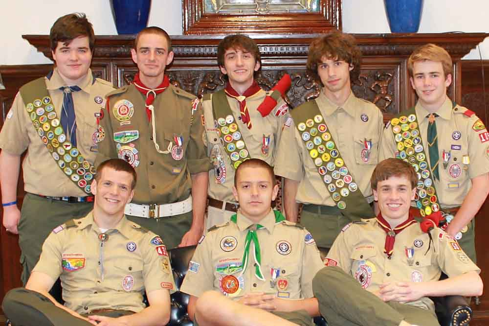 Eight members of Devon Prep's Class of 2012 earned the Eagle Scout rank.