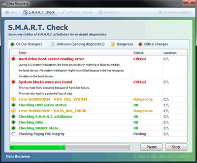 Smart Data Recovery fake security program