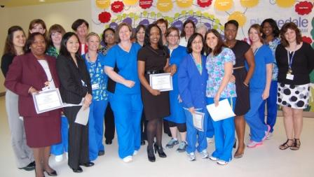 Blythedale nurses were honored during the Nursing Awards Ceremony.
