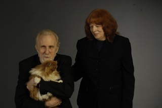 Alla Cohen, Ran Blake & Darby The Red Persian Cat!  Photo by Eric Antoniou