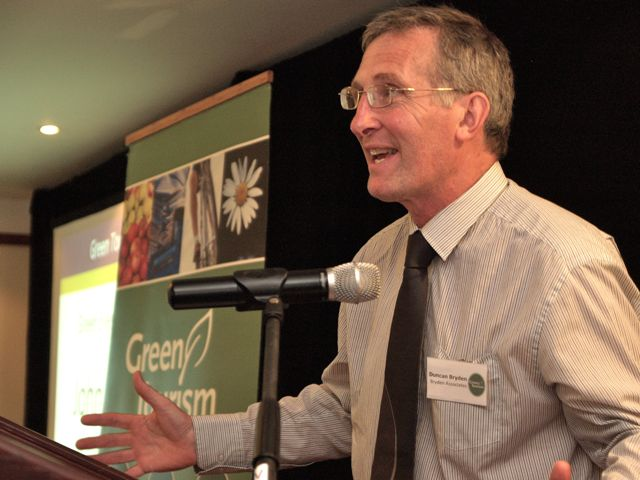 Duncan Bryden, a founder of the Green Tourism movement, at the Goldstar Awards