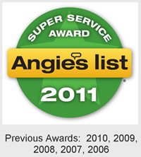 Angie's List Super Service Award 2011