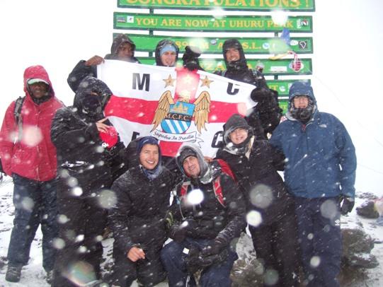 MCFC & Umbro summit Kilimanjaro for charity