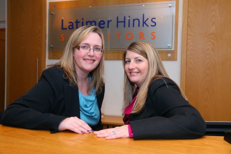 Elizabeth Armstrong and Natalie Palmer, Partners at Latimer Hinks Solicitors