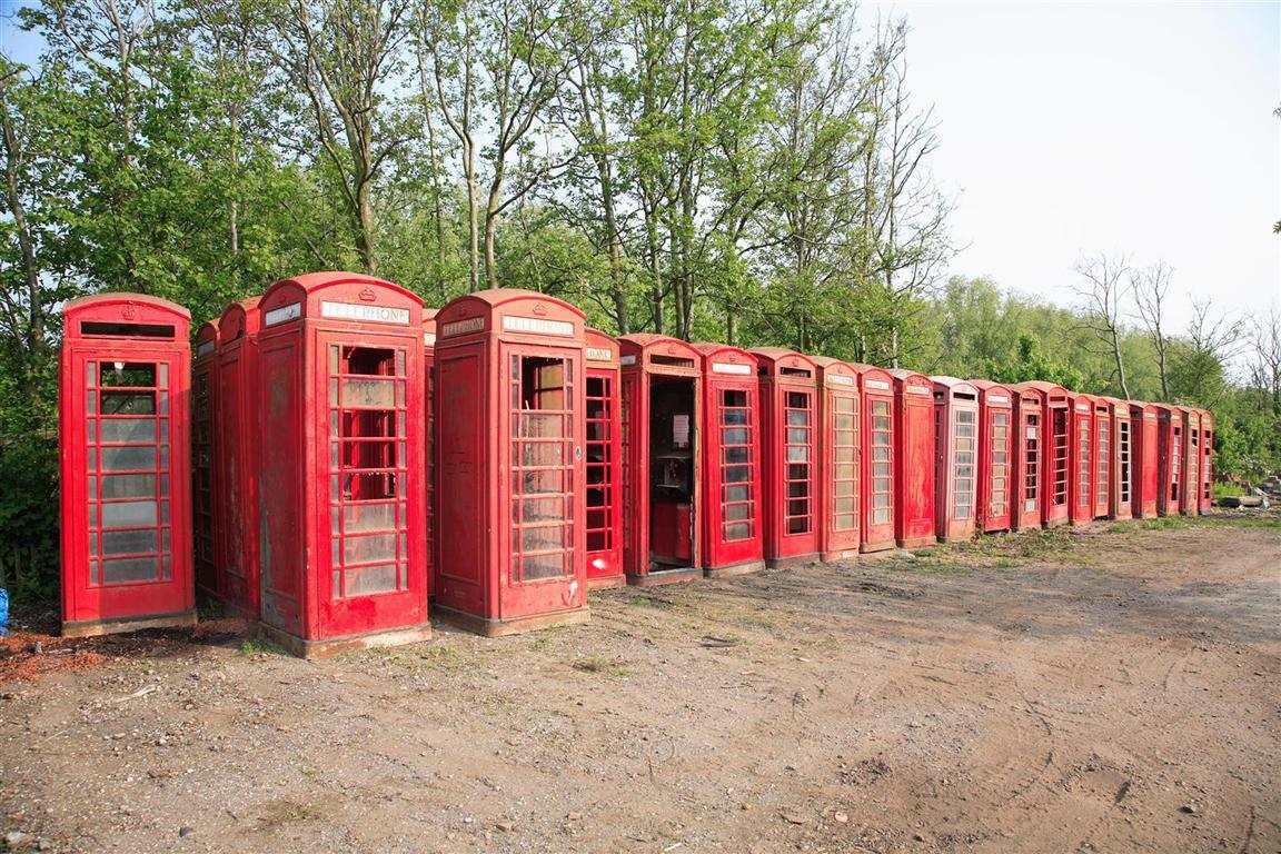 British Red Phone boxes ready for action