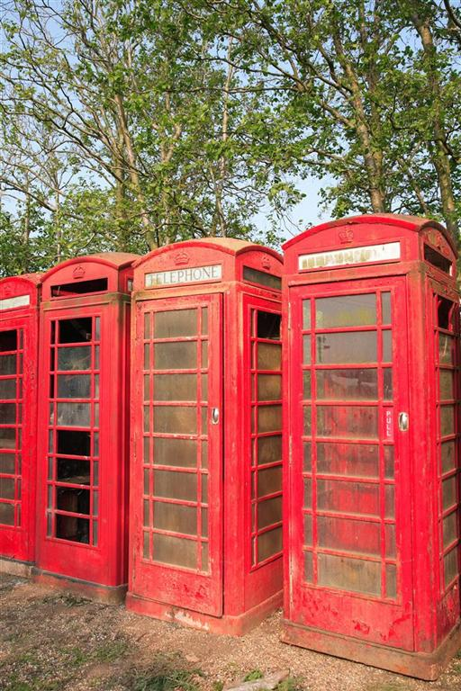 British Red Phone Boxes standing proud