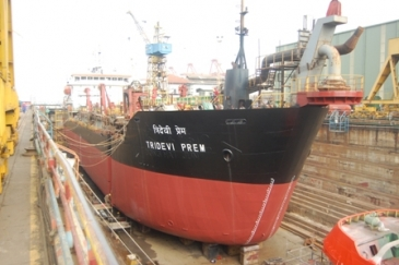 Dredger Tridevi Prem accommodated in Dock No. 01