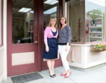 Cosmetique salon owner Edina Psorn (l) with stylist Kristina Checchia