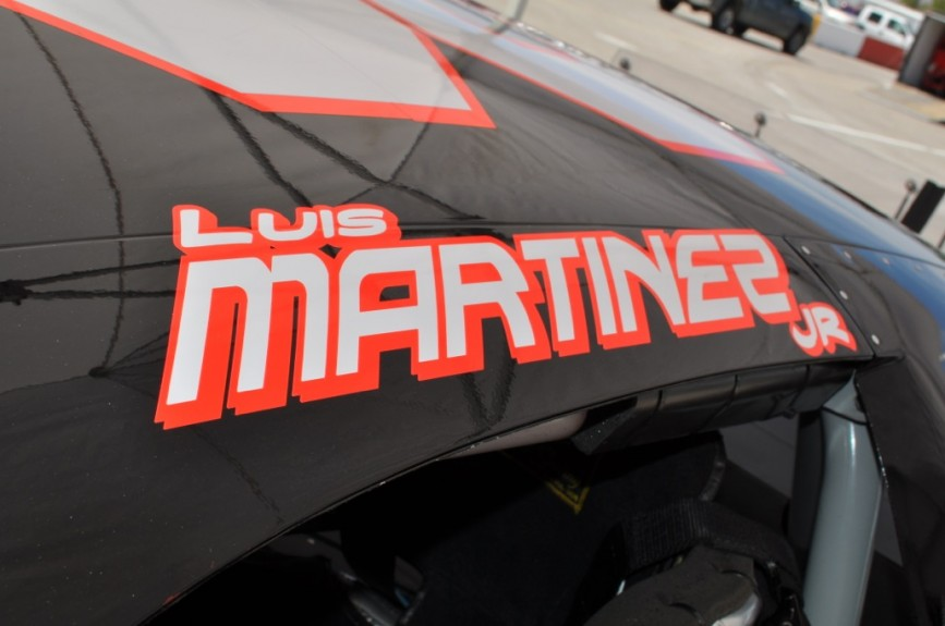 Luis Martinez Jr. in the #30 King Taco Chevrolet