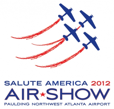 The 'Salute America 2012 Air Show' Logo.