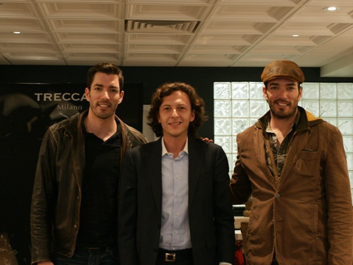 Property Brothers and Emanuele Bonasia at Treccani Milano Boutique in Toronto