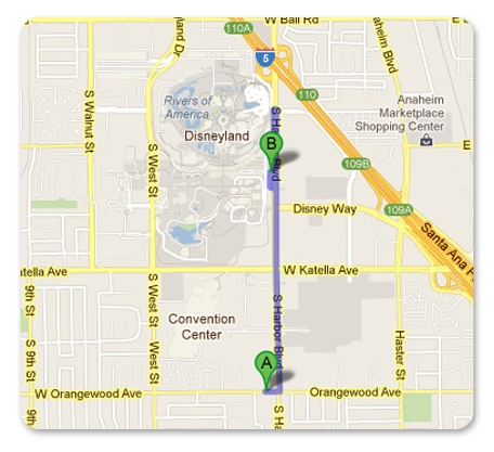 Map Anaheim Express Inn Maingate 2012