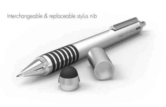 Grifiti Tagtool Stylus showing removable stylus