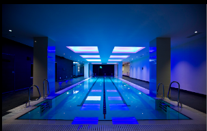 Swimtag at new Virgin Active pool in Aldersgate London