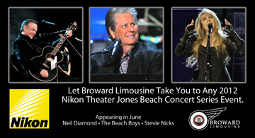 Jones Beach Concert Series Limousine by Broward Limos
