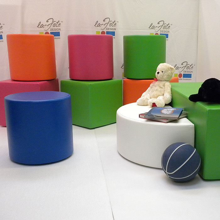La-Fete Designs for Kids: Dot Cube and ROund Ottoman -- Drew Perry ...