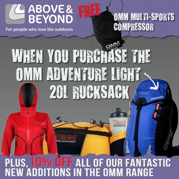 10% OFF all OMM + Buy OMM Adventure Light 20 & get FREE Multisports Compressor
