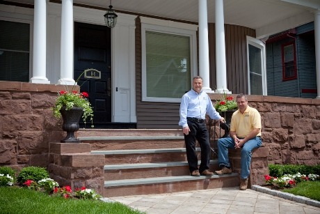 Grandview Homes LLC owner Tom Pellicano (l) and project manger Tom Pelletier