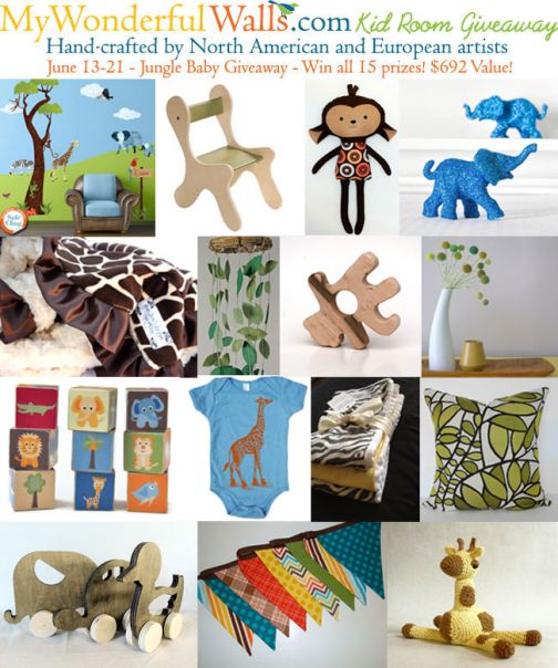 My Wonderful Walls Jungle Baby Giveaway $692 Value