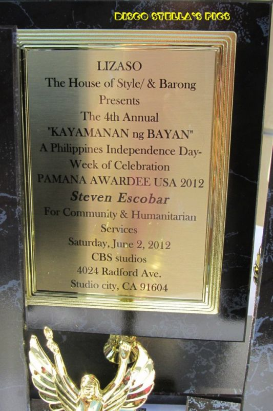 Steven Escobar Award at 4th Annual Kayamanan ng Ba