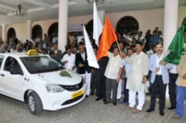 1st  Mega Cab was flagged off by Sri R Ashok, Hon