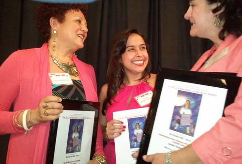 with Gloria Rodriguez and Peggy Robles-Alvardo