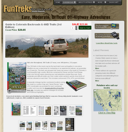 FunTreks Website Book Page