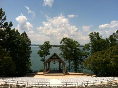 The Lovely Peachtree Point Amphitheater at Lake Lanier Islands Resort